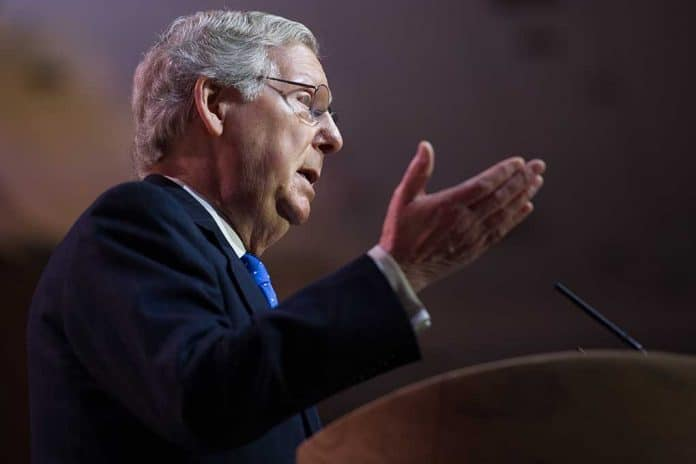 Mitch McConnell to Push Back on New Gun Laws